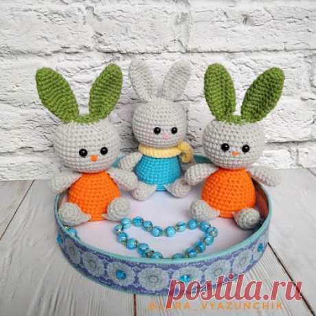 1000 схем амигуруми на русском: Морковный зайчишка