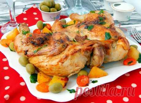 Цыпленок табака в духовке с корочкой - 1000.menu