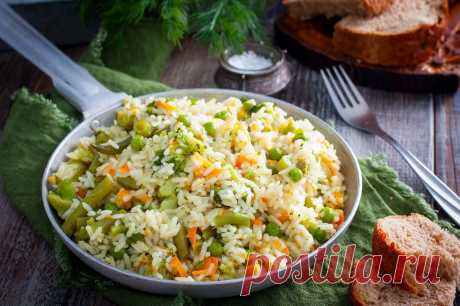 Рис с замороженными овощами рецепт с фото - 1000.menu
