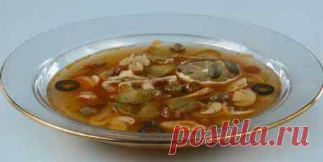 Solyanochka mushroom with capers. - Recipes - Delivery of pizza, lunches, sushi, drinking water home and in office, a banquet, a catering, organization of events in St. Petersburg