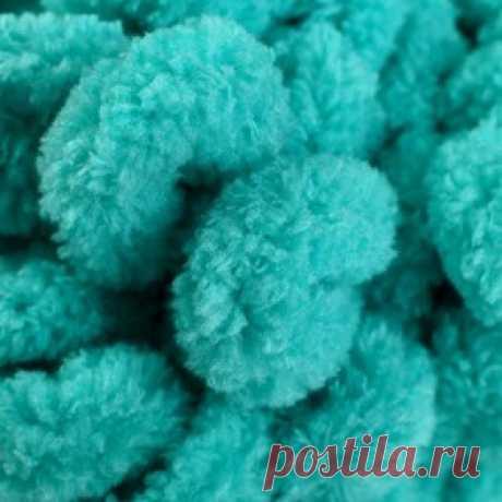 """Пряжа """"Puffy"""" 100 % микрополиэстер 9,2м/100г  (490 морская волна) Цена: 142,00 руб. Закажите прямо сейчас!  23 разных цветов красивые пастельные и чёрный ,белый"""