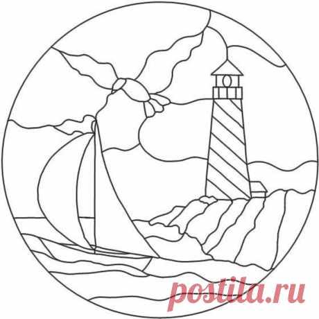 Большая подборка схем для панно в технике кинусайга: парусники и корабли