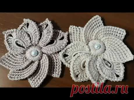 Необычный ЦВЕТОК КРЮЧКОМ. Цветок для начинающих. Flowers crocheted.