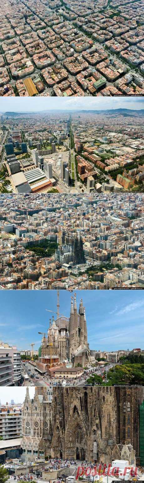 Взгляд на Барселону с облаков / Туристический спутник