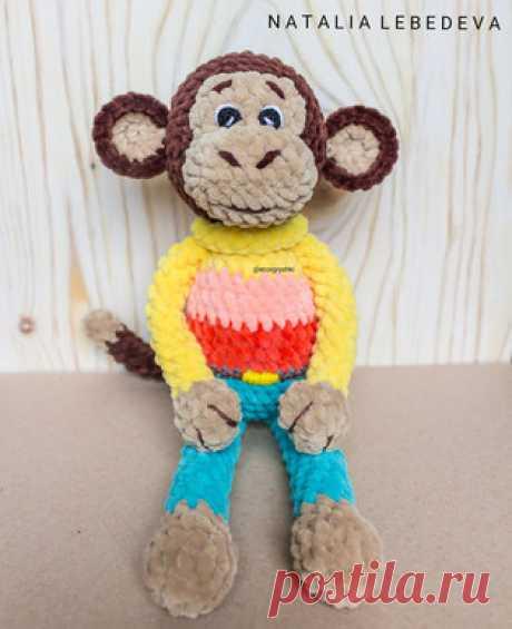 Обезьянка амигуруми. Схемы и описания для вязания игрушек крючком! Бесплатный мастер-класс от Натальи Лебедевой по вязанию плюшевой обезьянки крючком. Высота вязаной обезьяны примерно 30-33 см. Для изготовления игрушк…