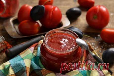 Рецепт кетчупа из помидоров и слив. Очень просто, вкусно и быстро | Еда без труда | Яндекс Дзен