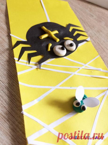 Паук и мошка на паутине Паучок приехал на базар. Мухам паучок привёз товар. Он его развесил на осинке: — Кто из вас желает паутинки? Орлов В. Предлагаем вам вместе с нами сделать
