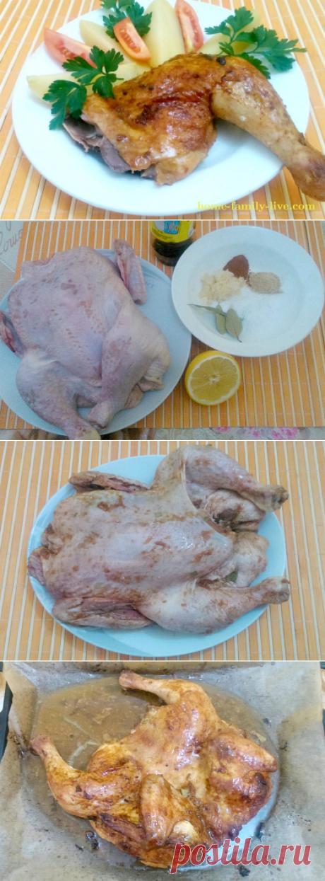 Курица с имбирем, чесноком и соевым соусом/Сайт с пошаговыми рецептами с фото для тех кто любит готовить