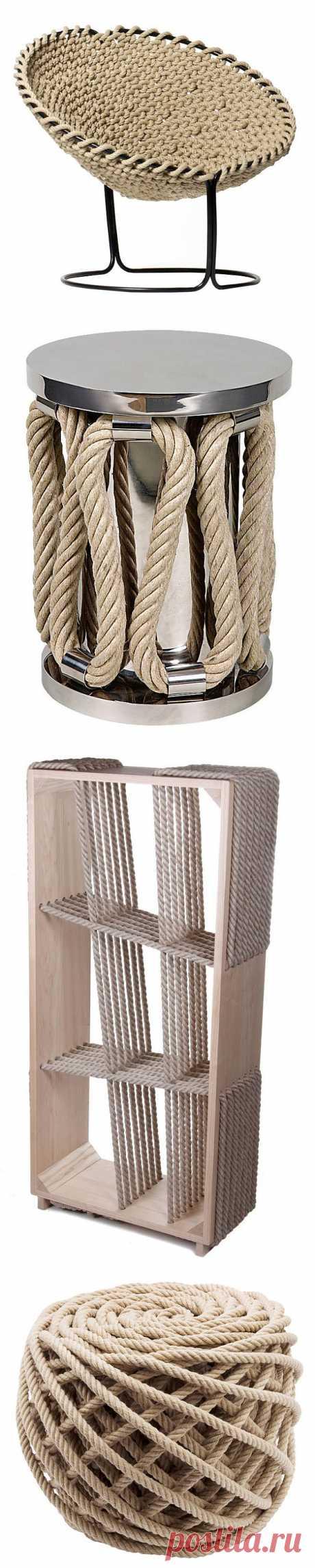 Тенденции дизайна: Веревки и канаты | Интерьеры в деталях в журнале AD | Ведущий международный журнал об архитектуре и дизайне интерьеров