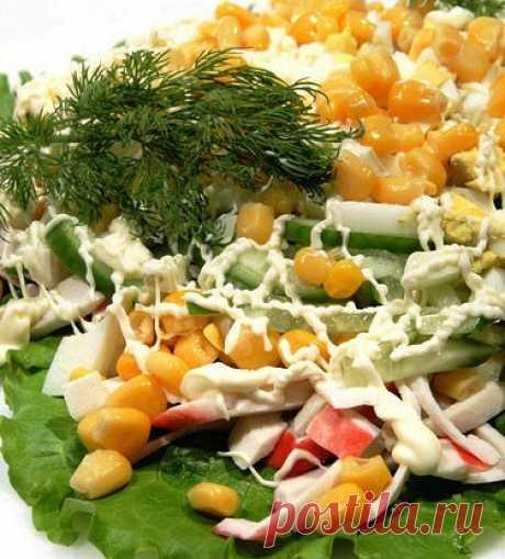 Салат из крабовых палочек и капусты рецепт – греческая кухня: салаты. «Еда»