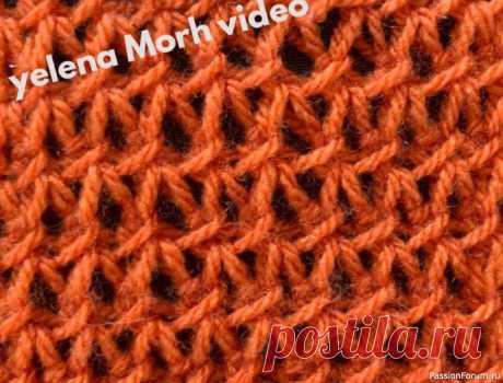 Узор ''Сеточный эксперимент''. Видео МК   Вязание для женщин спицами. Схемы вязания спицами Полупрозрачная сеточка на спицах.