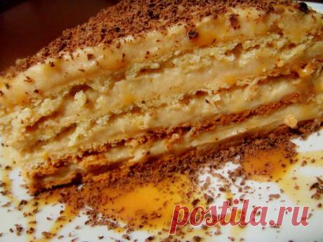 Очень домашний и вкусный Торт «Крем-брюле». Готовила на день Рождение