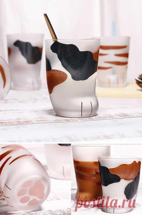 Стеклянные стаканы в виде кошачьих лапок