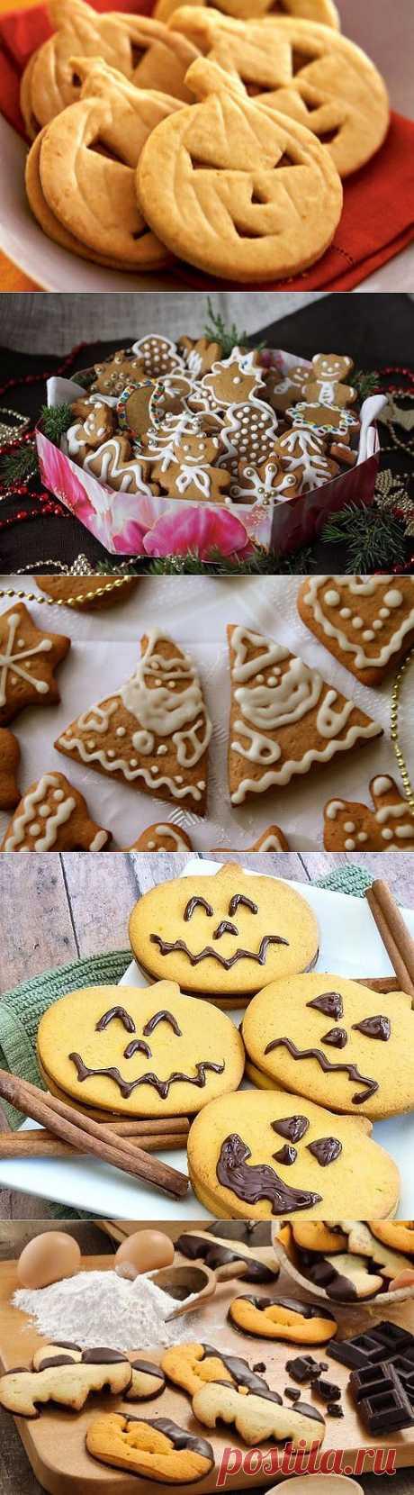 Имбирное печенье: 4 идеи на Хэллоуин или новогодние праздники / Простые рецепты