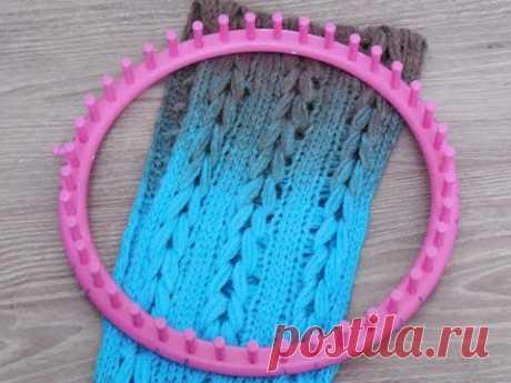 knitting loom: The braided scarf/shawl, english subs