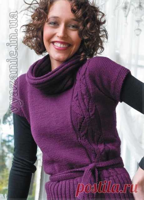 Сливовый пуловер с фантазийным узором из коллекции Filatura di Crosa