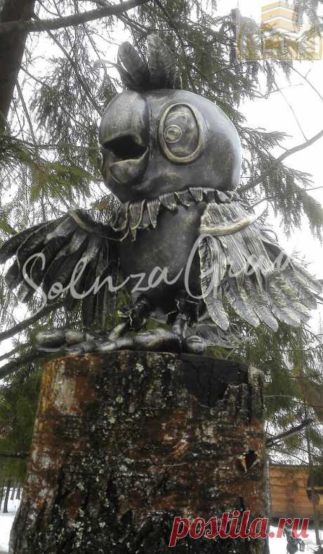 Кованая скульптура: Попугай Кеша