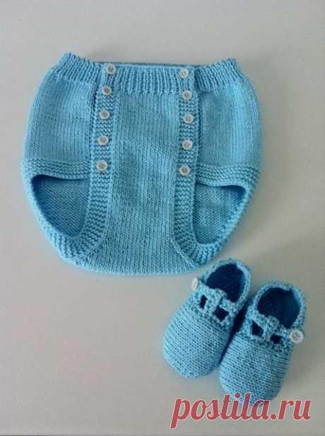 Вязаные трусики для малышей