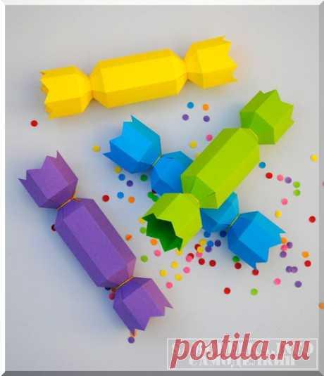Сделай сам: новогодняя упаковка для конфет своими руками