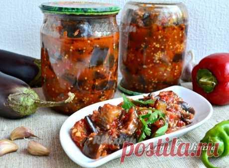 Салат из баклажанов по-татарски на зиму - очень вкусно! Такое лакомство зимой съедается за милую душу.