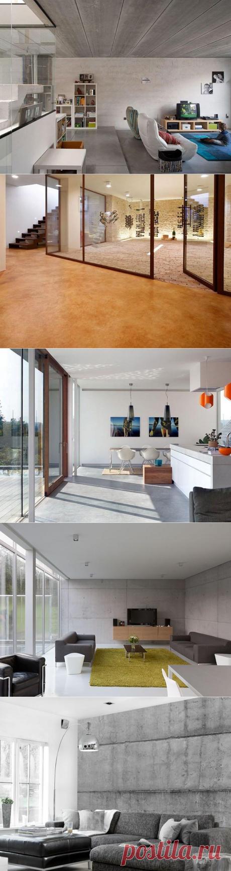 Бетон в дизайне интерьера — Мой дом