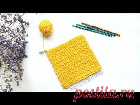 Узор крючком для кофточки. Simple crochet pattern