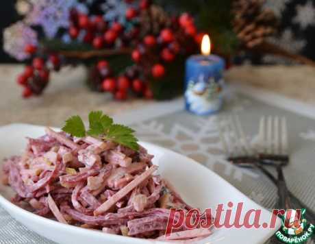 Салат из свеклы с пикантной заправкой – кулинарный рецепт