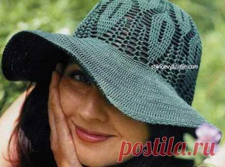 Летняя шляпка | Вязание крючком и спицами