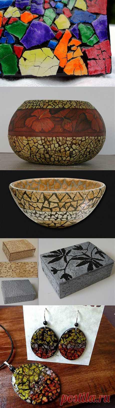 Мозаика из яичной скорлупы: удивительная красота из самого дешёвого материала