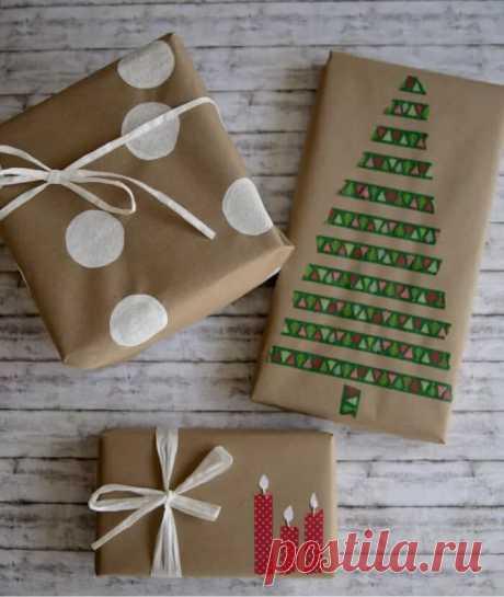 63 идеи упаковки подарков на Новый Год