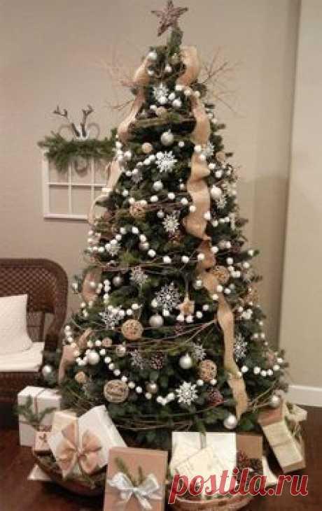 Украшение новогодней елки 2018 + фото, украшение новогодней елки цветами