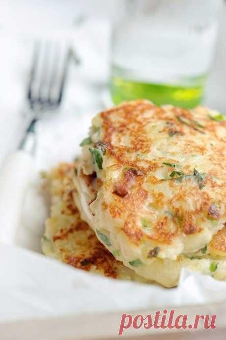 Как приготовить картофельные оладьи с сыром - рецепт, ингредиенты и фотографии