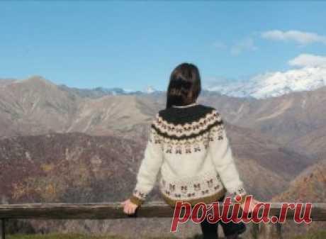 Пуловер с круглой кокеткой Agrifoglio - Вяжи.ру