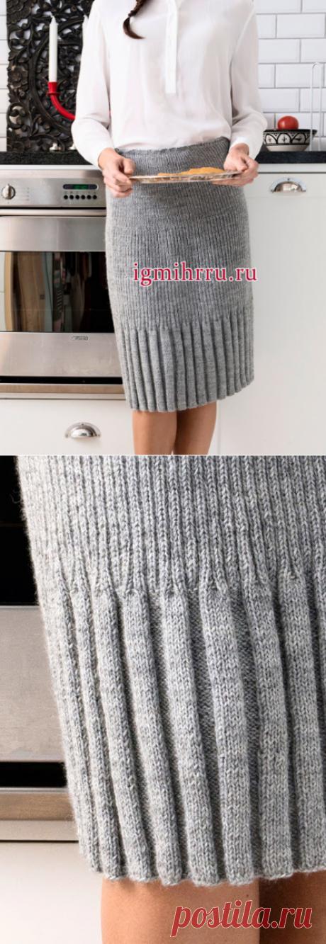 Мастера и умники: Красивая и простая в исполнении юбка спицами
