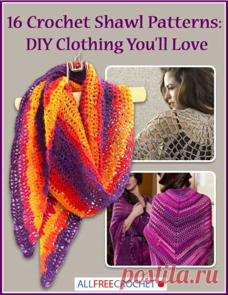 16 Crochet Shawl Patterns: DIY Clothing You'll Love | AllFreeCrochet.com