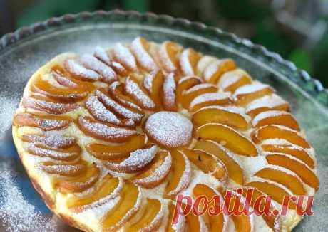 Творожный пирог с абрикосами Автор рецепта memchik - Cookpad
