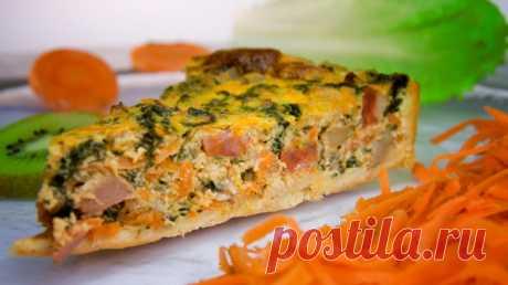Пирог с тыквой, сыром и шпинатом