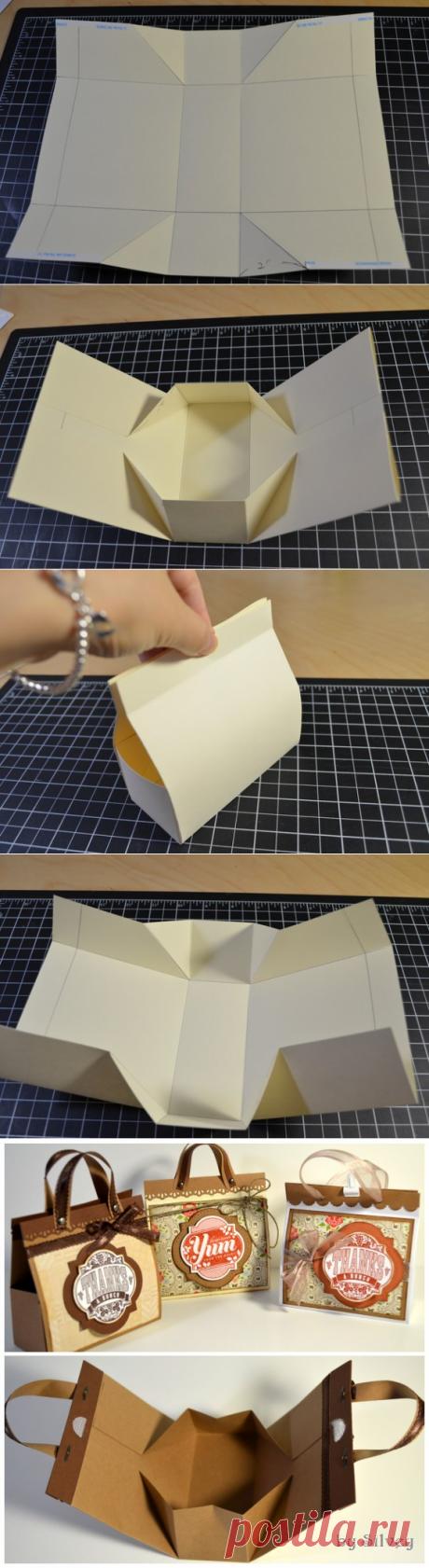 Мини-сумочка — идея для подарочной упаковки — Сделай сам, идеи для творчества - DIY Ideas
