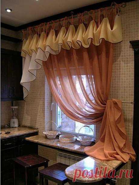 Красивый ламбрекен на кухню   Хитрости Жизни