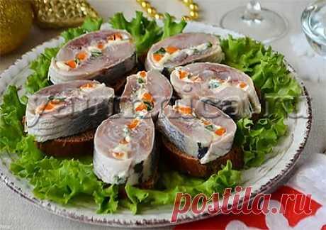 Рецепт вкусной закуски с селедкой - Пошаговые рецепты с фото