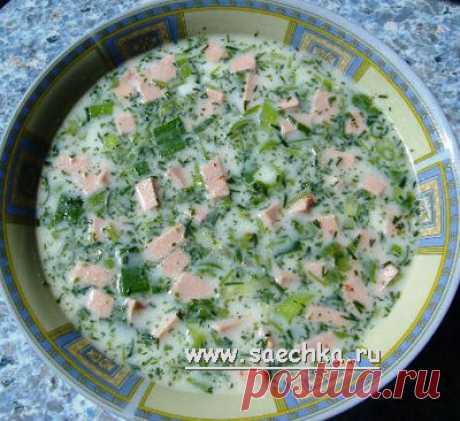 Окрошка на минералке | рецепты на Saechka.Ru