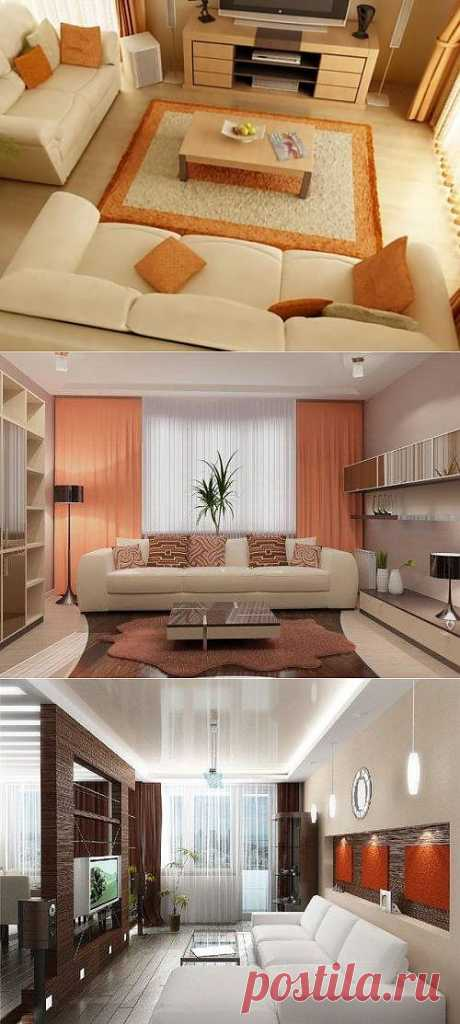 Interior design of a small drawing room