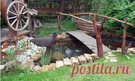 Деревенский стиль оформления усадьбы - Леди Флора Каждый владелец загородного участка, будь то дача или дом, старается оформить его на свое усмотрение