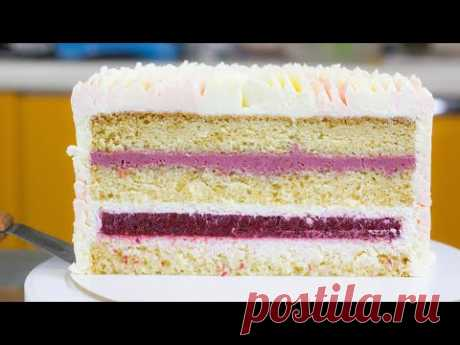 """ТОРТ """"КОКОСОВЫЙ КОРОЛЬ"""" Нежный торт для искушенных сладкоежек. Торт с ягодами Рецепт торта и бисквит"""