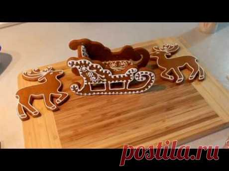 SLEDGE gingerbreads and DEER Gingerbreads For New Year