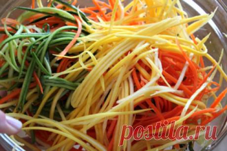 Минимум калорий, максимум удовольствия! Овощные спагетти — Фактор Вкуса