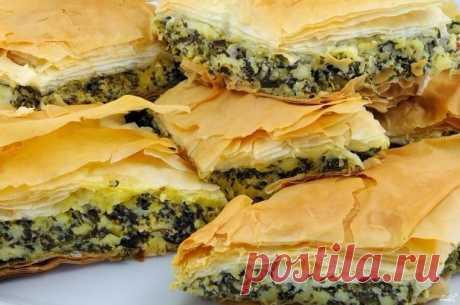 Греческий пирог со шпинатом и сыром — Мегаздоров
