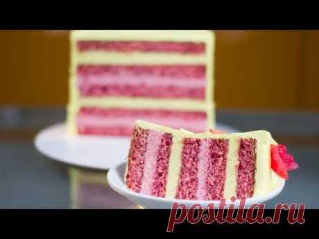 Я НЕ ВЕРИЛА ЧТО ТОРТ МОЖЕТ ТАЯТЬ ВО РТУ. Очень нежный торт. Идеальный клубничный бисквит для торта