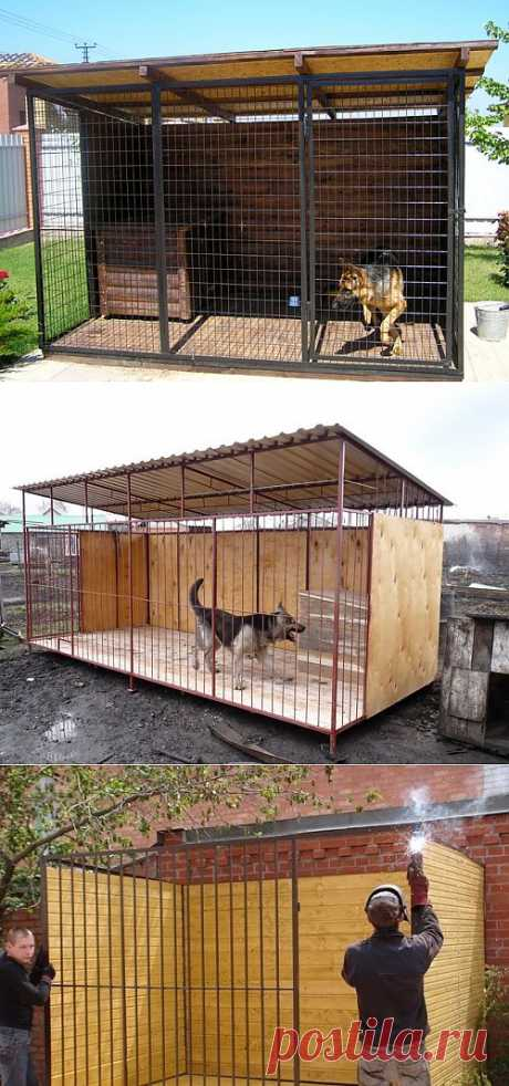 Dog enclosure: we build housing for the pet the hands