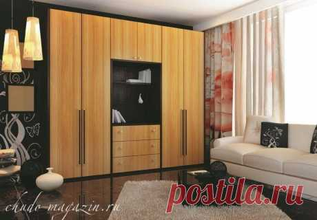 Шкаф распашной шпон классический стиль: фасады шпон, ЛДСП под шпон